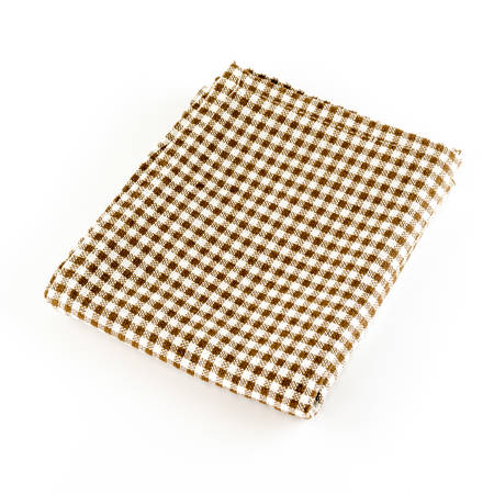 brown kitchen towel on a white
