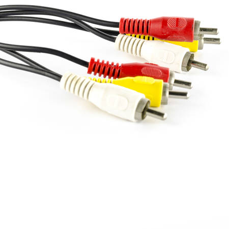 av cable use for television on a white background photo