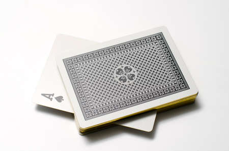 ace card on a white background Imagens