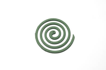 deterent: mosquito coil on a white background Stock Photo