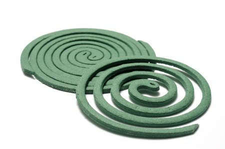 mosquito coil on a white background photo