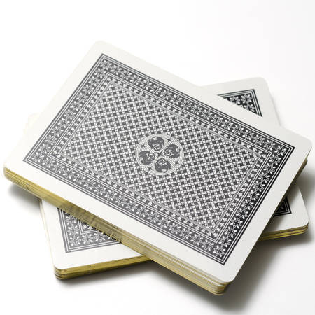 deck of cards on a white background