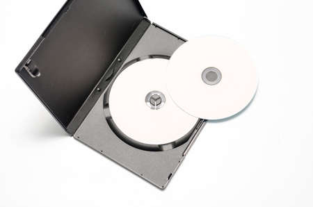 dvd case: dvd case on a white  Stock Photo