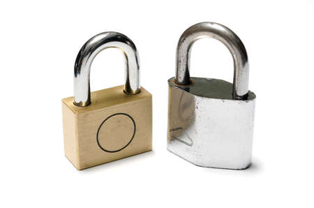 padlock on a white background
