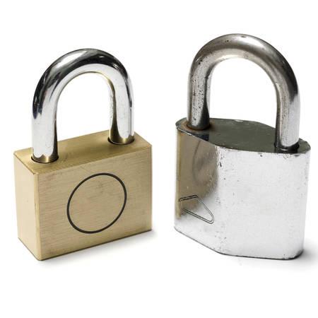 padlock on a white background photo
