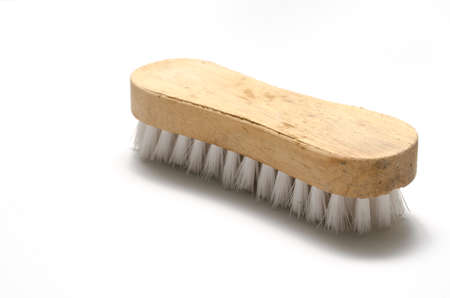 dirty wash brush on a white Imagens - 33903036
