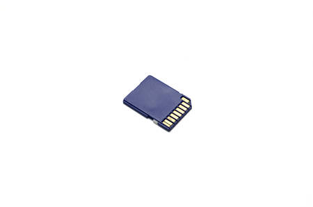 sd: sd card on a white background Stock Photo