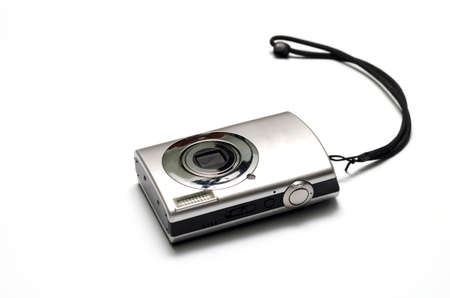 megapixel: compact camera on a white background Stock Photo