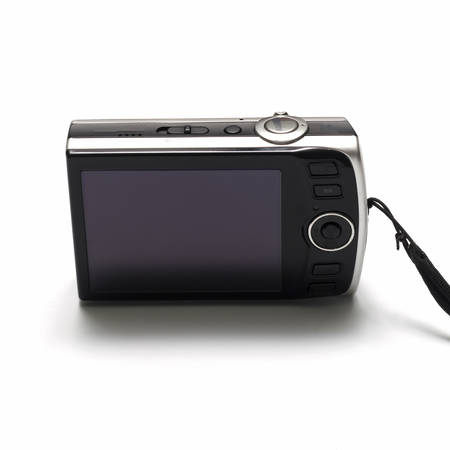 compact camera: compact camera on a white background Stock Photo