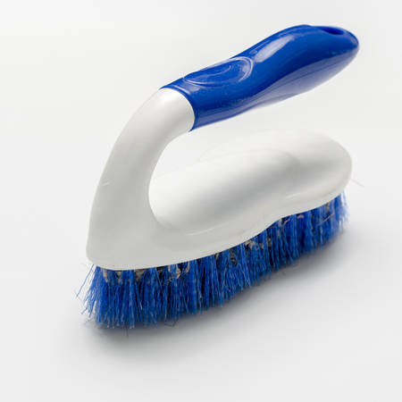 dirty wash brush on a white background photo