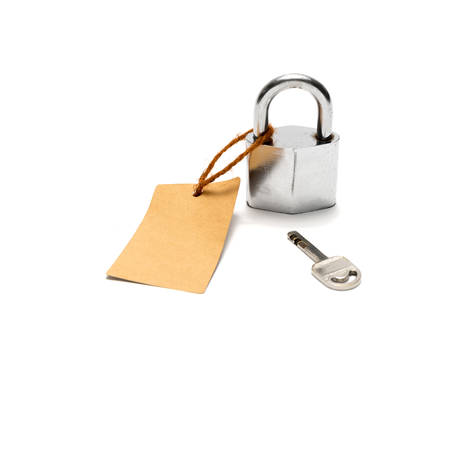 energies: padlock and key with tag isolated on white background