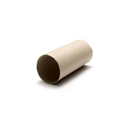 paper roll: tissue paper roll isolated on white background Stock Photo