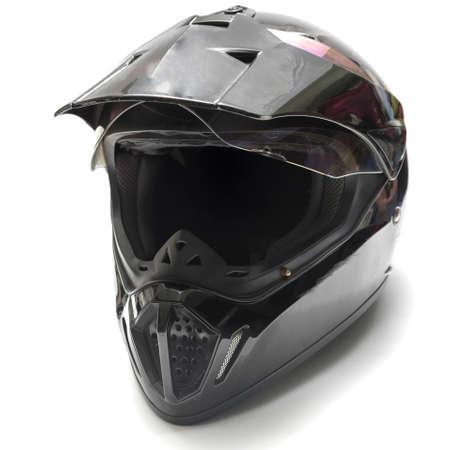 motorcycle helmet isolated on white background photo