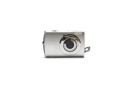 compact camera: compact camera isolated on white background
