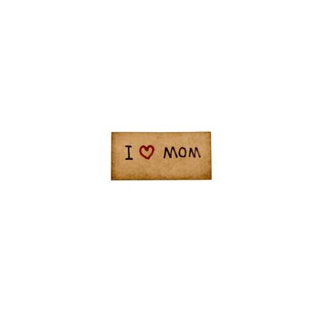 gratefulness: I love mom card isolated on white background
