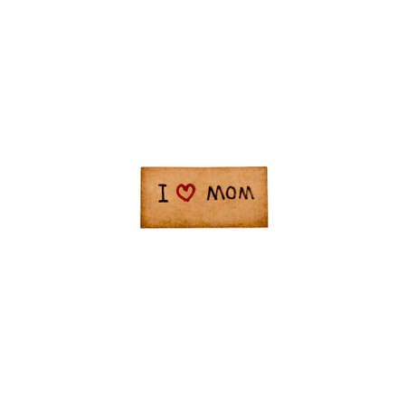 I love mom card isolated on white background