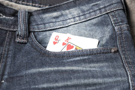 4 of a kind: card in jean pocket