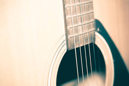 boehm: still life close up part of guitar vintage style Stock Photo