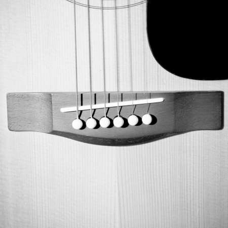 boehm flute: still life close up part of guitar black and white color tone style