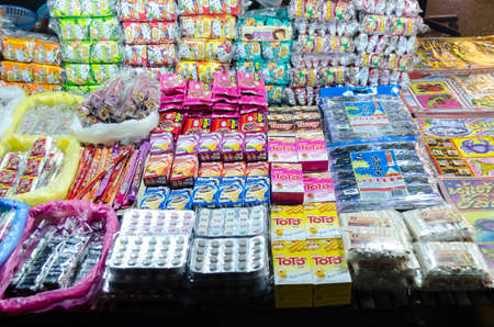 BANGKOK,THAILAND - 2 FEBRUARY 2017 : Classic toy and snack selling at Jatujak Green night market