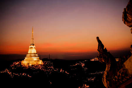 Phranakornkhiri festival evening Phetchaburi,Thailand photo