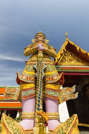 Giant in Wat Phra Kaew temple, Bangkok,thailand photo