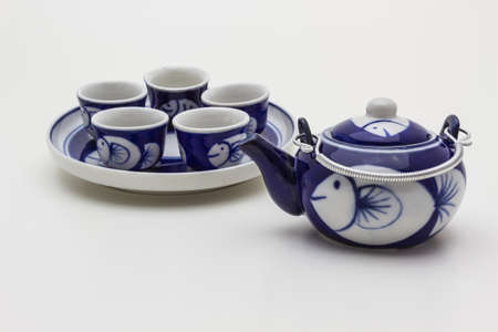 Chinese teapot on white background  photo