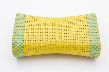 Wicker woven pillow on white backgroung. thai Wicker woven pillow Stock Photo - 21959609