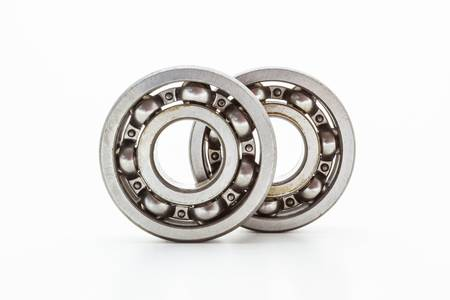 Steel ball bearing  isolated on white background