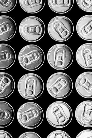 beer can: Can lid with pulling up ring a group of background