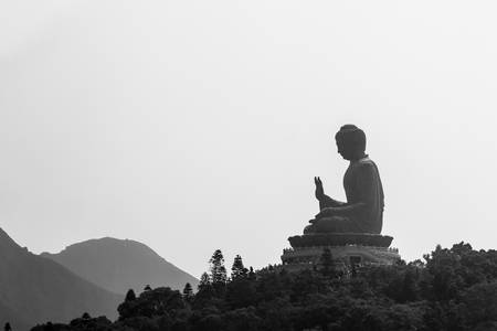 lantau: Giant Buddha. Po Lin Monastery in Hong Kong.
