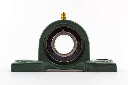 Ball bearing unit isolated on a white background.