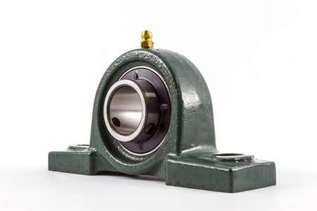 friction: Ball bearing unit isolated on a white background.