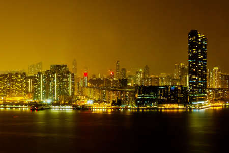 Kowloon bay views to the from north point of Hong Kong. photo