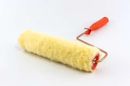 Paint roller brush isolated on White