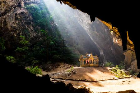Pavilion in Phraya Nakorn cave nearby Hua Hin , National Park Khao Sam Roi Yot Thailand . photo