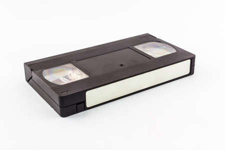 VHS video cassette isolated on white background.  photo