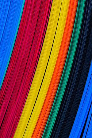 La texture de la couleur des feuilles de plastique ondulé, fonction conseil. Banque d'images