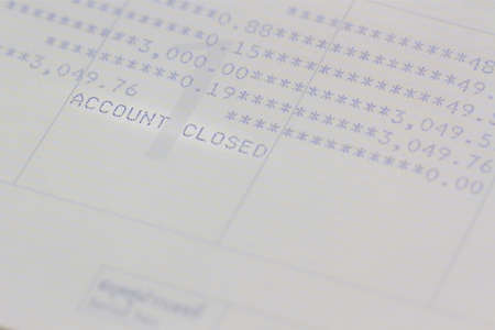 bank records: Closeup saving account passbook, book bank. Stock Photo
