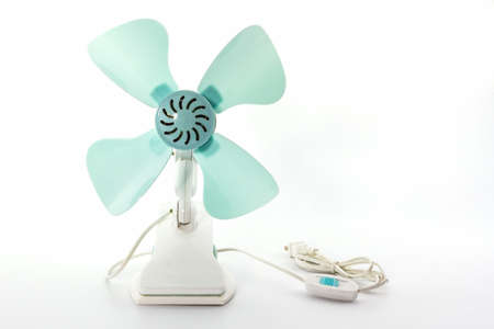 Closeup electric fan on white background.  photo