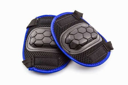 blader: Knee pads of knee protectors on white background.
