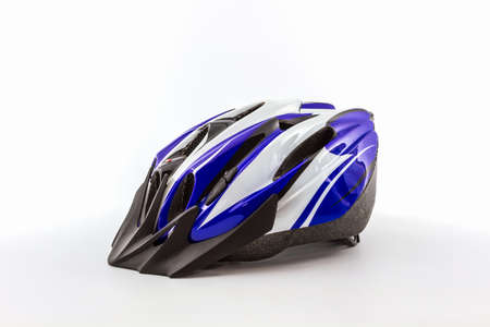 foam safe: Bicycle helmet for safe driving on white background.