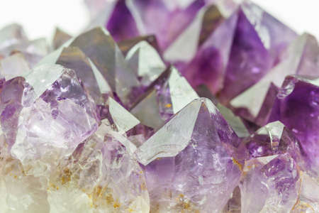 amethyst rough: Crystal Stone, purple rough amethyst crystals on texture background.