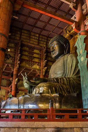 Great Buddha at Todai-ji temple in Nara, Japan.