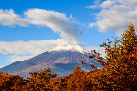 honshu: Mount Fuji , located on Honshu Island, Japans highest mountain that the nearly perfectly shaped volcano has been worshiped as a sacred mountain and experienced big popularity among artists and common people throughout the centuries.