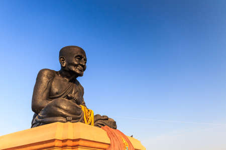 Luang Phor Tuad Buddha in Wat Huai Mongkhon temple Hua Hin, Thailand. Stock Photo