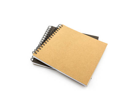 sketch book: Group of Sketch book on white background.
