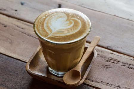 mug of coffee: Cappuccino or latte coffee at the coffee shop.