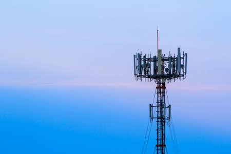 Mobile phone Telecommunication Radio antenna Tower.