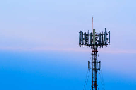 phone receiver: Mobile phone Telecommunication Radio antenna Tower.